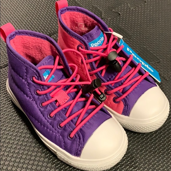 NWT Toddler Girls People's brand High Top Shoes